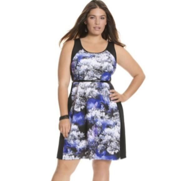 07d87ce6145bc Lane Bryant Dresses | Print Block Scuba Dress | Poshmark